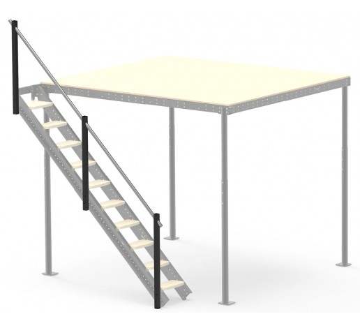 Railing for side ladder