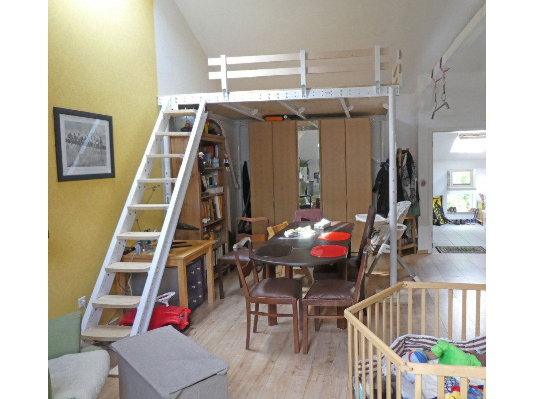 Loft Bed Ts 8 With Lateral Stairs Tecrostar Com