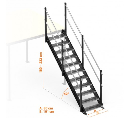 Long straight stairs kit