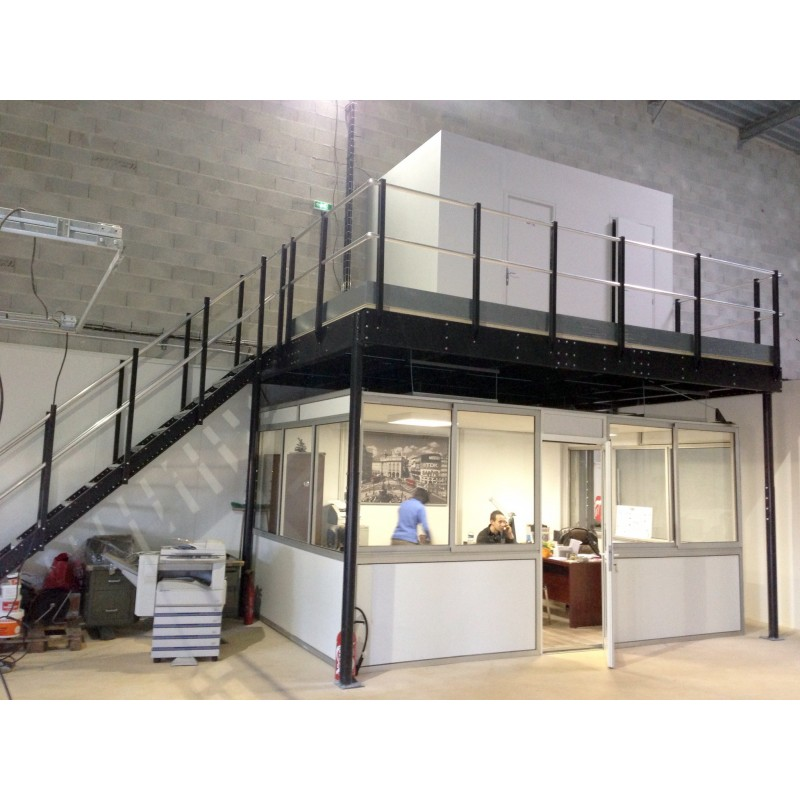Tl 30 Mezzanine With L Long Straight Stairs Tecrostar Com