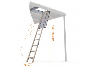 3m Telescopic wooden Ladder