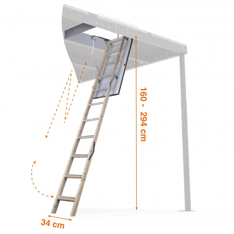 Srw 3m Retractable Wooden Ladder